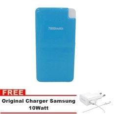 Bcare Power Bank 7800mAh Micro USB Output Cable - Biru + Gratis Charger Samsung 10Watt