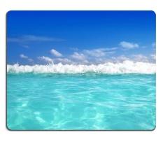 Beautiful Blue Caribbean Sea Water Wave Horizon Mouse Pad Customized Game Mouse Mat Rectangle Mouse Mat