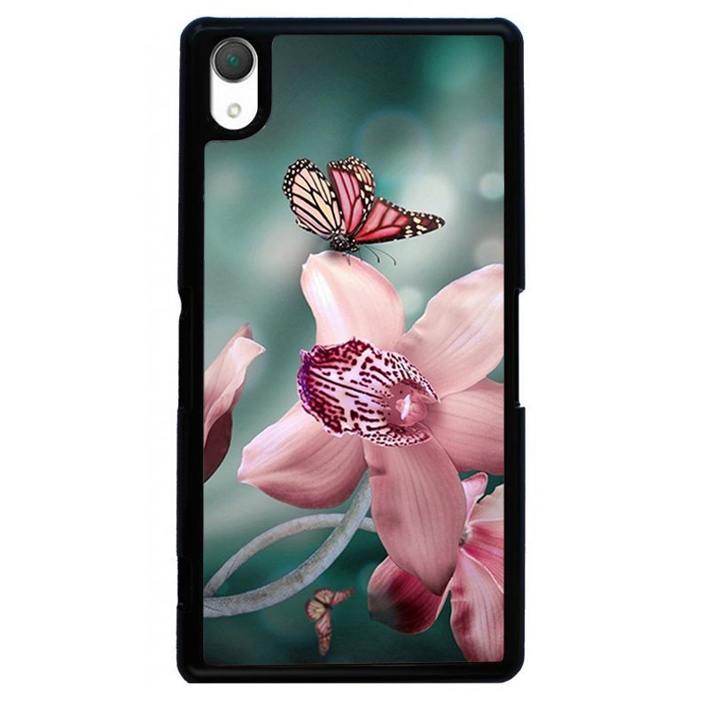 Beautiful Butterflies Painting Phone Case for SONY Xperia Z4 (Black)