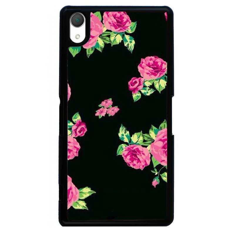 Beautiful Flower Painting Phone Case for SONY Xperia Z3 (Black)
