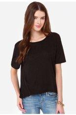 Belladiary L173 Women's Deep V Neck Long Sleeve Backless Casual T Shirt Tops Blouse Black (Intl)