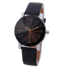 Bessky Women's Black Round Dial Clock Leather Strap Quartz Wrist Watch (Intl)