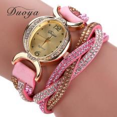 Bigskyie Duoya Hot Selling Luxury Fashion Heart Pendant Women Watches Pink Free Shipping