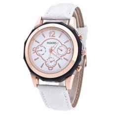 Bigskyie Luxury Brand Women Watches Leather Band Analog Quartz Wrist Watch White Free Shipping
