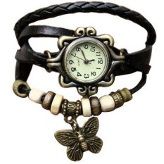 Black Retro Butterfly Analog Quartz Wrist Hand Bracelet Watches