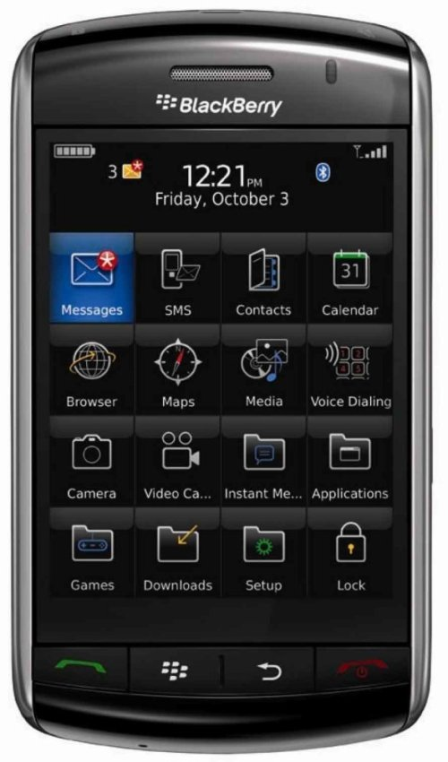 Blackberry 9500 - Hitam