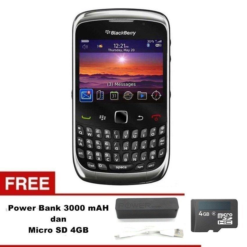Blackberry Keppler 9300 - 256 MB - Abu-abu Grafit + Gratis Micro SD 4GB + Power Bank 3000mAh