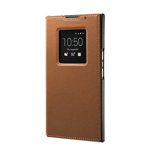 BlackBerry PRIV Leather Smart Flip Case Original - Tan