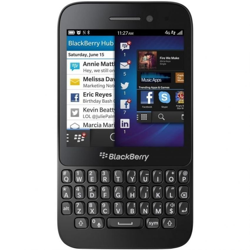 Blackberry Q 5 - Hitam