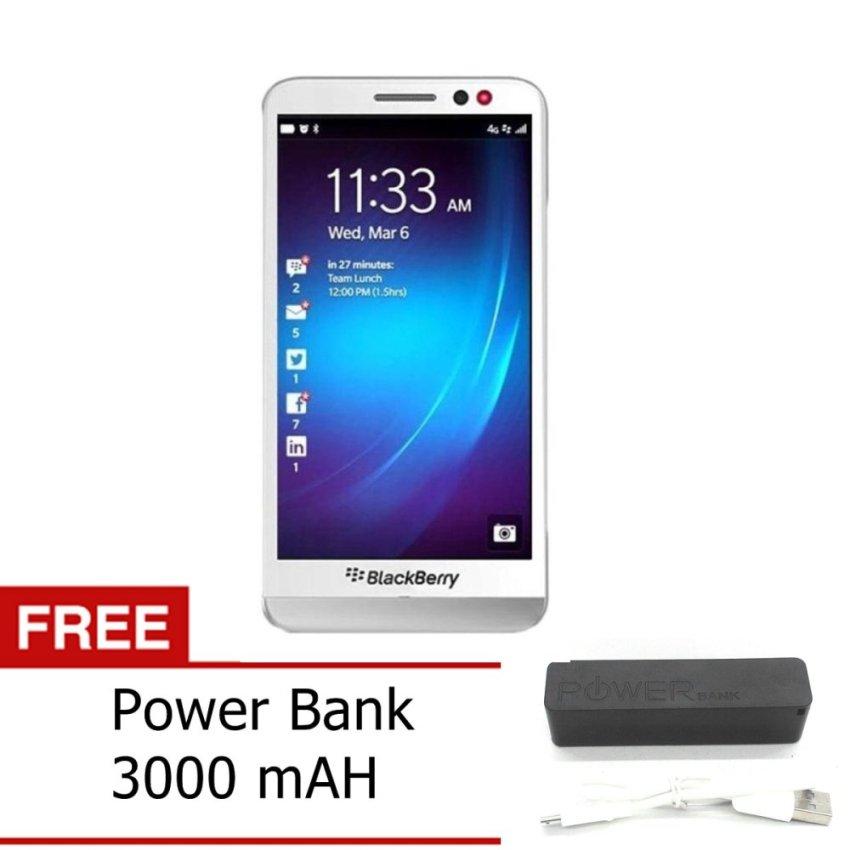 Blackberry Z30 - 16GB - Putih + Gratis Power Bank 3000mAh