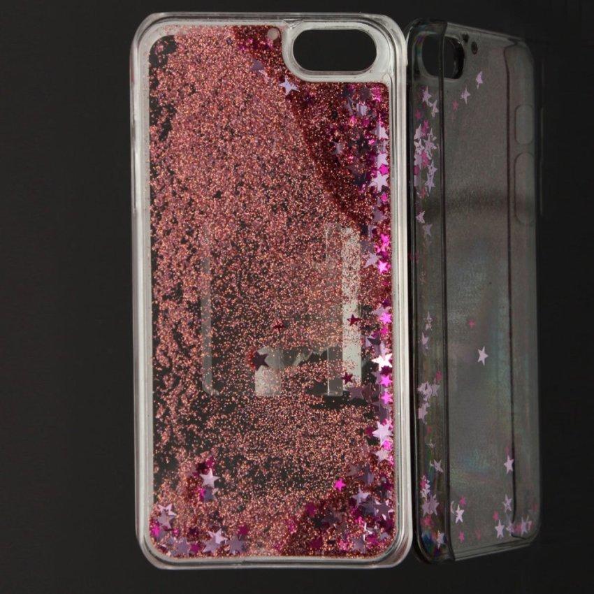 Bling Liquide Paillettes Etoiles Coque Housse Etui Cover pour iPhone 5 5S 6 Plus Pink (Intl)