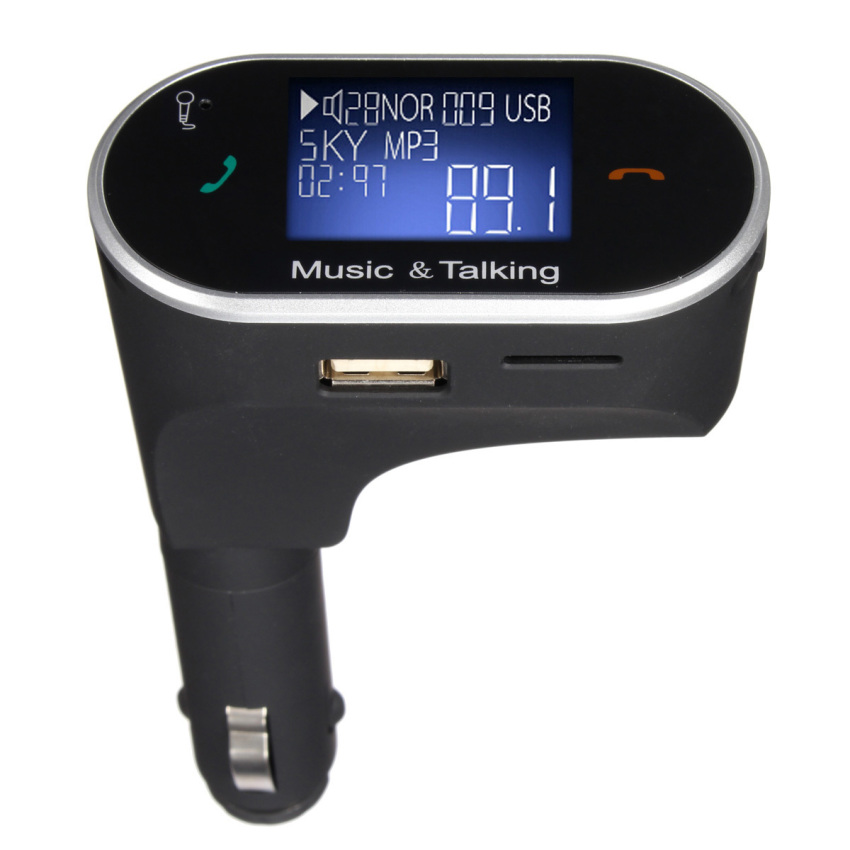 Bluetooth Car Kit MP3 Player FM Transmitter Modulator Remote USB SD for Phone (Intl)