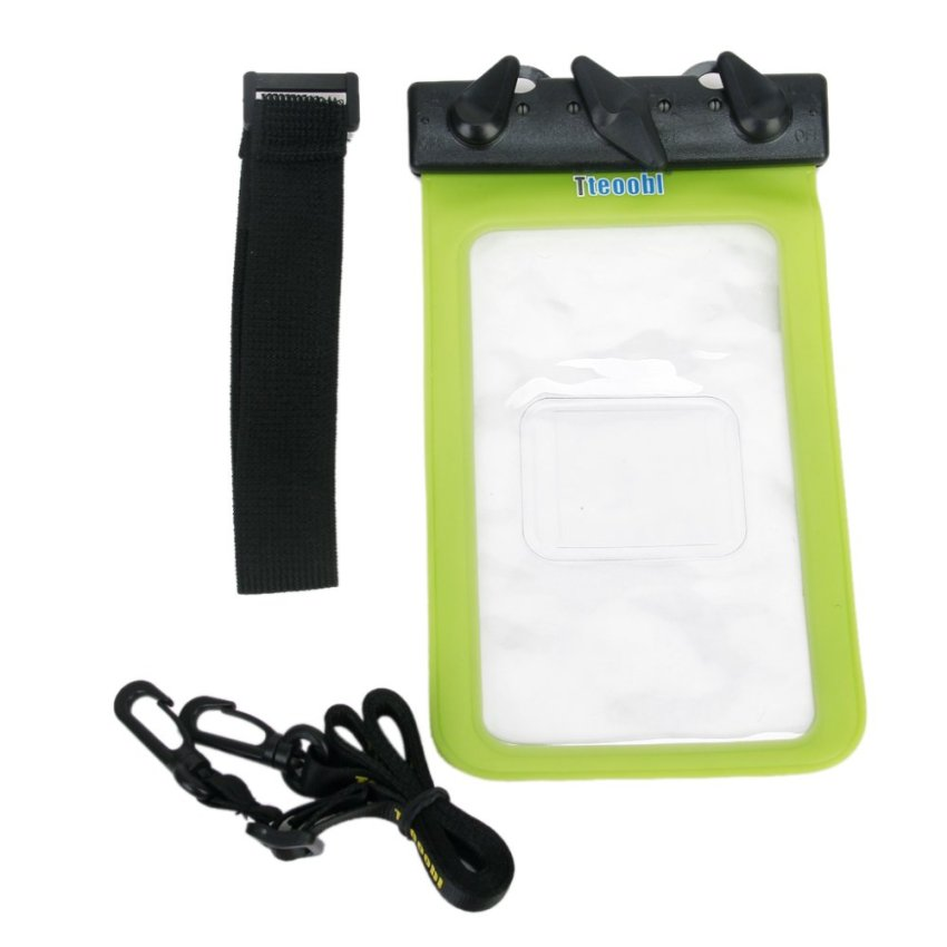 BolehDeals Tteoobl T-11C Universal 20M Waterproof Diving Rafting Surfing Swimming Sauna Bag Case Pouch Hanging Armband for 4.8-5.5 inch Smart Phones iPhone 5S 5C 5-Green