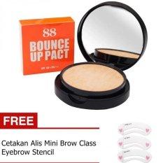 Bounce Ver 88 Up Pact SPF50 + Gratis Cetakan Alis Mini Brow Class Eyebrow Stencil