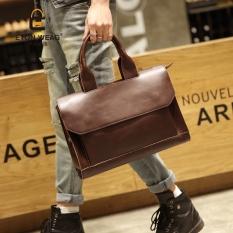 Brand Design New Cool Bag Fashion Leisure Men's Handbag Men Old School Single Shoulder Bag Business Briefcase Portable Bag -Coffee