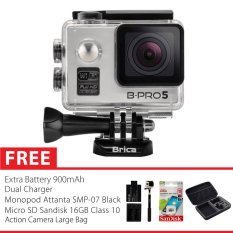 Brica B-Pro 5 Alpha Edition Combo Extreme Plus Action Camera - Silver Gratis Paket