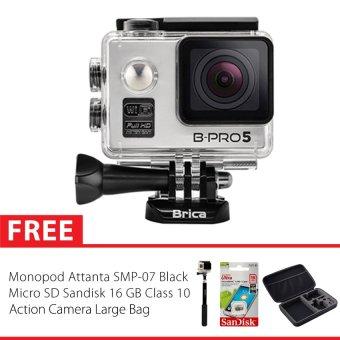 Brica BPro 5 Alpha Edition  Silver + Gratis Monopod + Micro SD 16GB