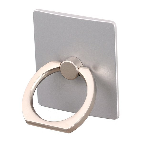 Broadfashion 360 Degree Finger Ring Sticky Mount Stand Holder for iPhone Andrews Phone Silver (Intl)