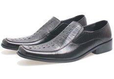 BSM Soga BFH 117 Sepatu Pantofel / Formal / Kerja Pria Kulit Asli - Elegan - Hitam