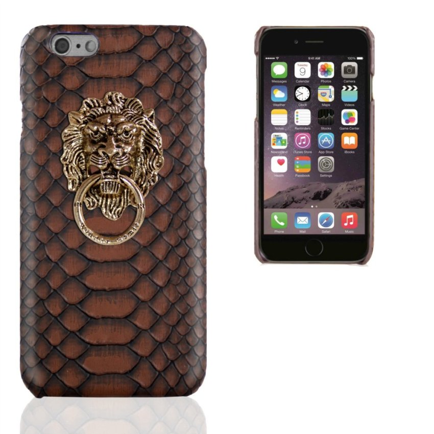 Business Style Luxury Leather Case for Apple Iphone 6Plus/ 6S Plus 5.5 inch (Brown) (Intl)