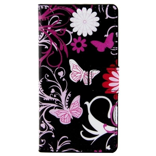 Butterflies Love Flowers Pattern Leather Flip Cover for LG Class/LG Zero (Multicolor) (Intl)