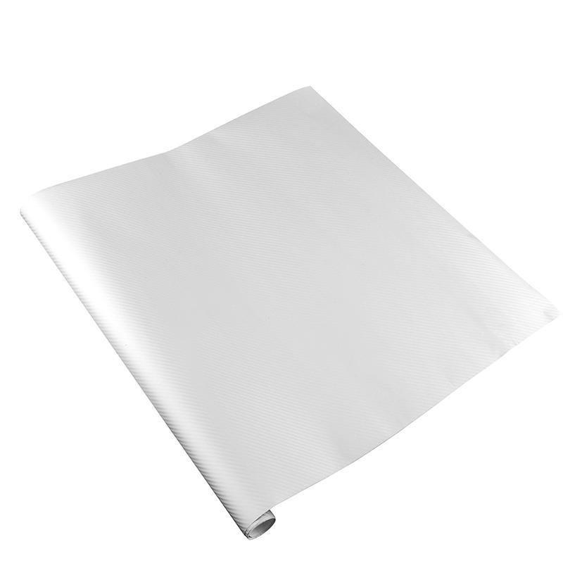 BUYINCOINS Carbon Fiber Vinyl Wrap Film (White)