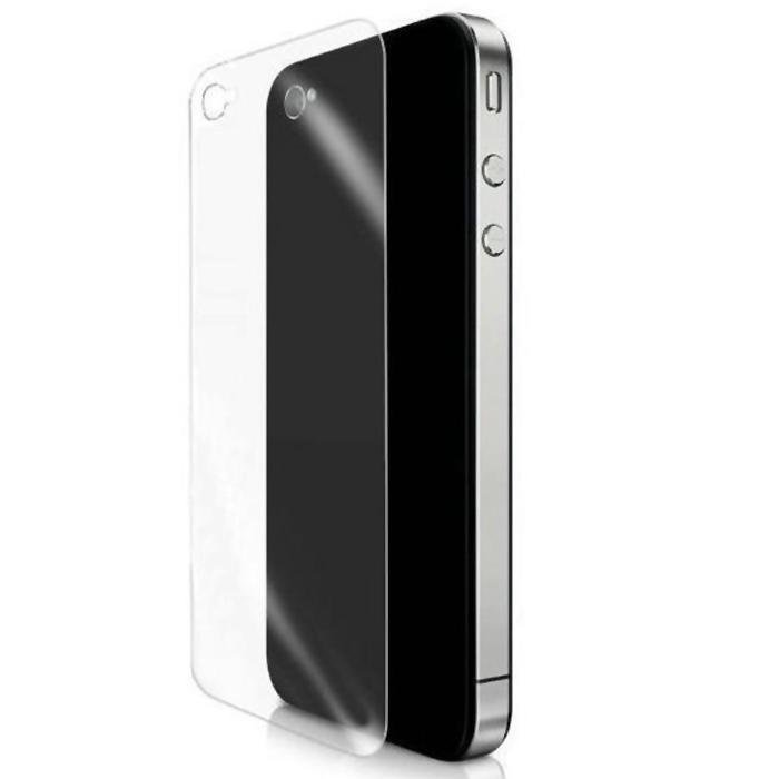 BUYINCOINS Clear Back Screen Protector Cover Film Guard for Apple iPhone 4 4S