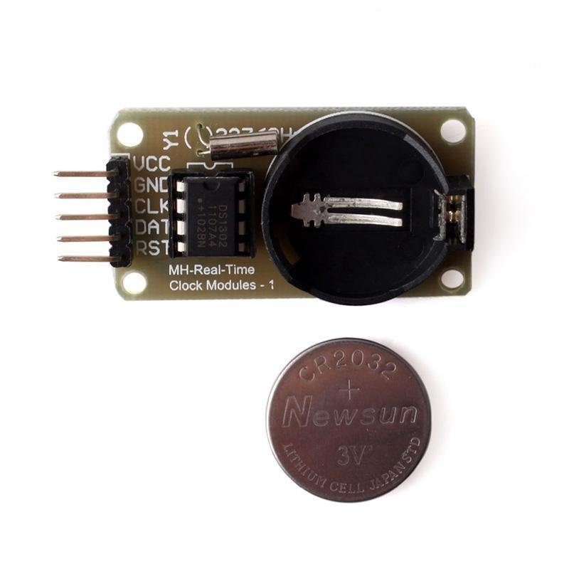 BUYINCOINS DS1302 Clock Module with Battery Real-Time Clock Module for Arduino