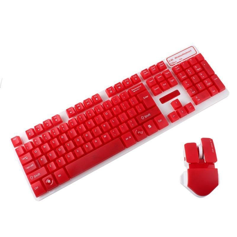 BUYINCOINS Fashion 2.4G Wireless Suspended Mechanical Touch Game Keyboard and Mouse