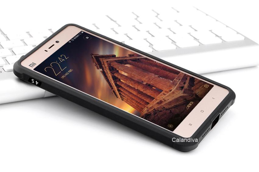 Calandiva Dragon Shockproof Hybrid Case for Xiaomi MI4S - Hitam + Gratis Screenguard
