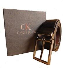 Calvin Klein Gesper Ikat Pinggang Kulit Pria CK11 - Hitam