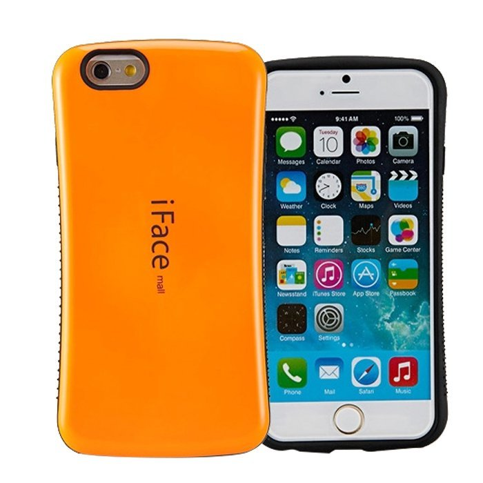 Candy Color Korea Style Shock Absorbing iFace case TPU+PC Hard Case Silicone Cover for iphone 6/6s(Orange) (Intl)