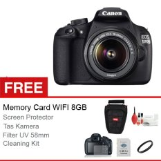 Canon EOS 1200D Kit 18-55mm IS II - 18 MP - Free Memory Card WIFI 8GB+Anti Gores LCD+Cleaning Kit+Tas+Filter UV 58mm