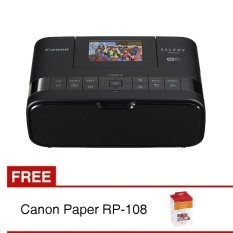 Canon Printer Selphy CP1200 Wifi - Hitam + Gratis Tinta Printer Selphy RP108
