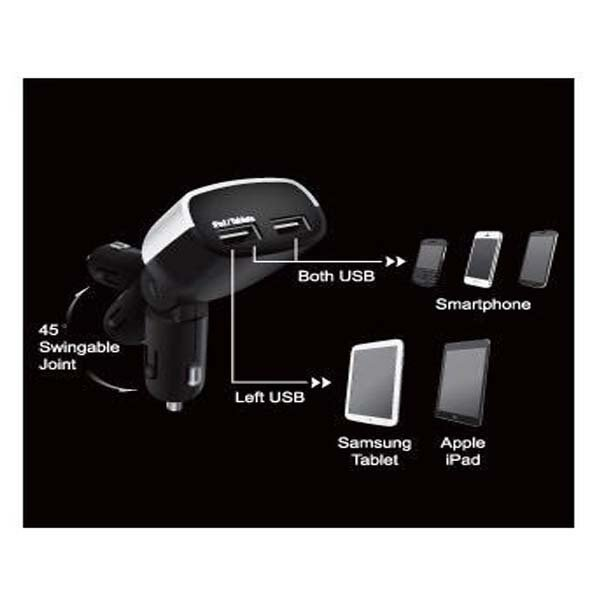 Capdase Dual USB Car Charger Real Time Monitor T2 - 3.4A