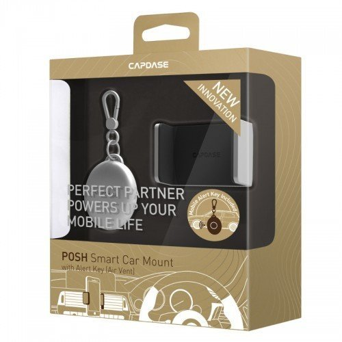 Capdase Posh Smart Car Mount Air Vent with Alert Key - Silver