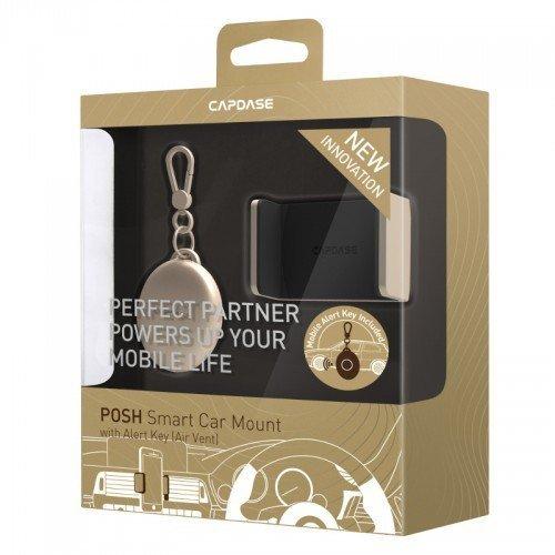 Capdase Posh Smart Car Mount With Key Alert (Air Vent) - Gold