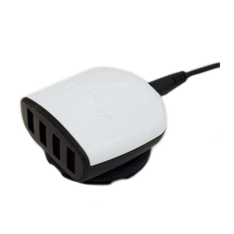 capdase quartet usb car charger 6,2a putih