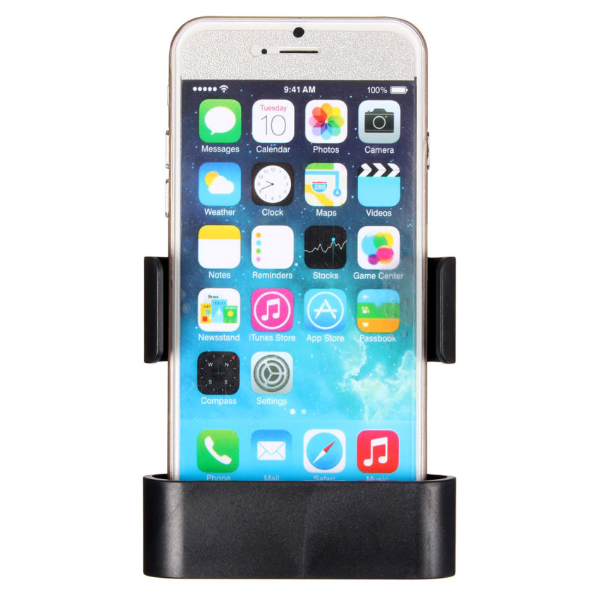 Car Air Vent Clip Mount Holder Cradle Stand For iPhone 6 Galaxy S3 S4 S5 HTC M9 (Black) (Intl)
