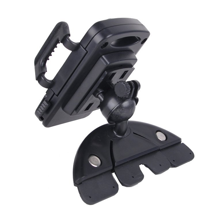 Car CD Dash Slot Mount Holder Dock for Ipod/Iphone6/Android Phones/GPS/MP3 - Black (Intl)