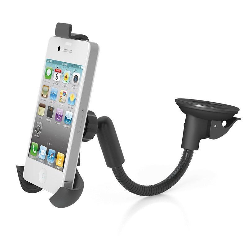 Car Center Console Windshield Phone Holder Stand Cradle for Iphone 4 4s Lenovo Xiaomi Suction Mount Base (Intl)