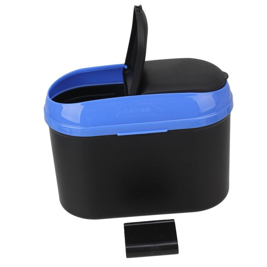 Car Dustbin Trash Can (Blue/Black)