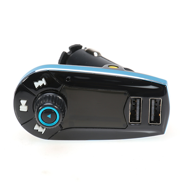 Car FM MP3 Modulator with USB Charger 2.1A for Smartphone - 618C - Hitam/Biru
