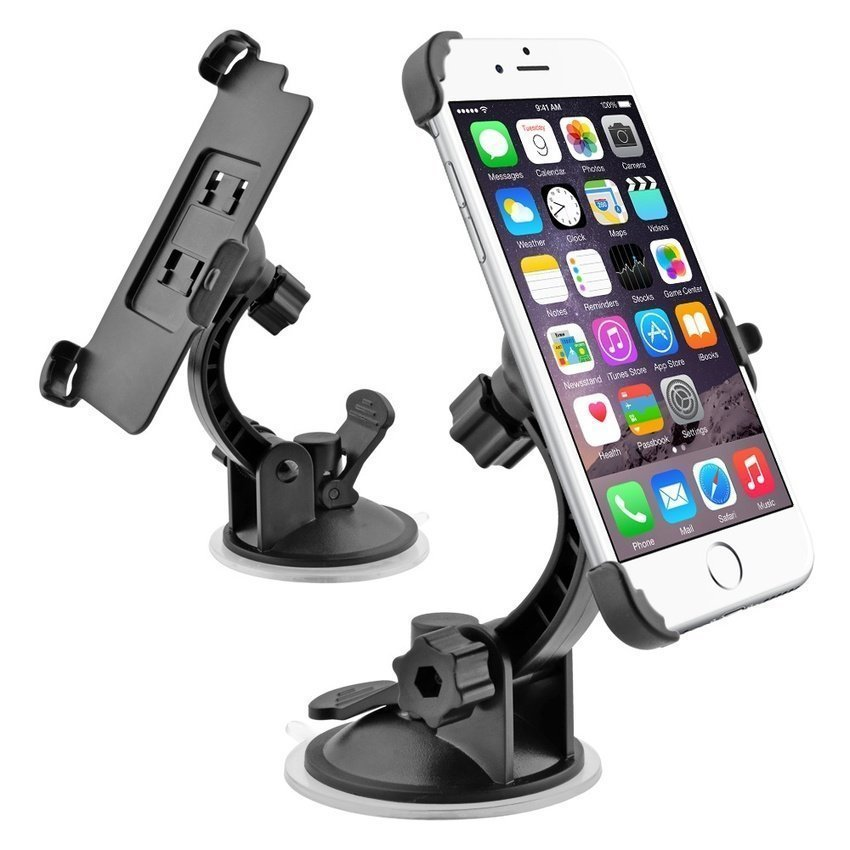 Car Mount Holder with Sucktion Cup for iPhone 6 (Black) (Intl)