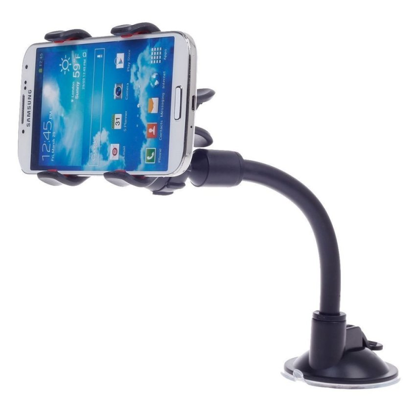 Car Phone Holder Cradle Mount for iPhone 5/5S/5C/4S/4 (Black)(INTL)