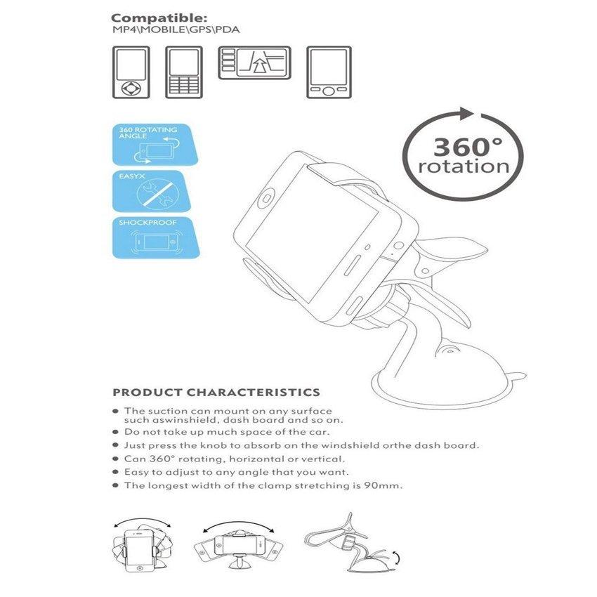 Car Phone Holder Flexible Mobile Phone Holder Black (Intl)