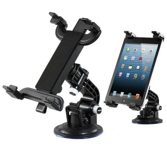 Car Supporting Bracket with Suction Cup for iPad (Black) (Intl)