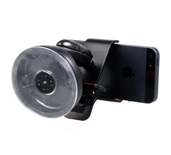 Car Universal Clip Holder with Suction Cup for iPhone 5 (Black) (Intl)