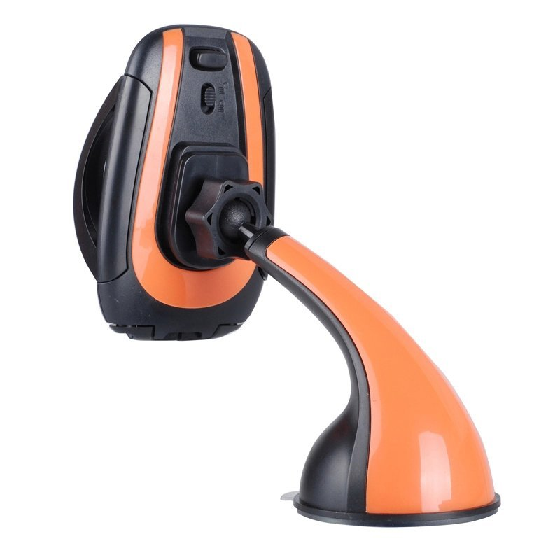 Car Windshield Mount Rotating Stand Holder For iPhone 6 5S 5C Samsung Cell Phone Orange (Intl)