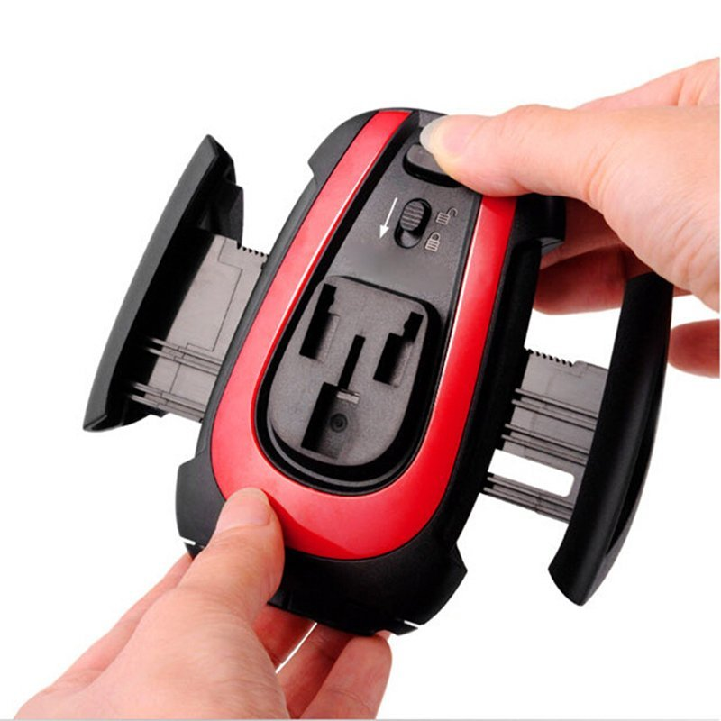 Car Windshield Mount Rotating Stand Holder For iPhone 6 5S 5C Samsung Cell Phone Red (Intl)